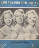Have You Ever Been Lonely The Beverley Sisters 1950s Sheet Music