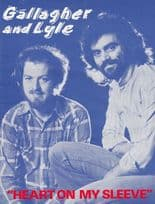 Heart On My Sleeve Gallagher & Lyle 1970s Sheet Music