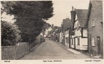 High Street Sonning Berkshire Blowy Day Real Photo Postcard