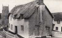 Higher Ashton Thatched Cottage Church Lancs Vintage Real Photo Postcard