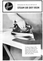 Hoover Vintage Steam Dry Iron Small Instruction Book