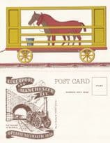 Horse Travelling on Liverpool & Manchester Train Railway Opening Postcard