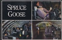 Hughes Howard Spruce Goose Plane Cockpit Queen Mary Museum Postcard