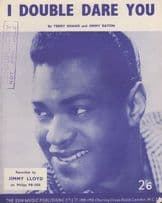 I Double Dare You Jimmy Lloyd 1950s Sheet Music