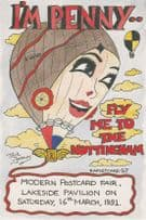 I'm Penny Fly Me To Nottingham Hot Air Balloon Advertising Postcard