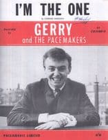 I'm The One Gerry & The Pacemakers 1960s Sheet Music
