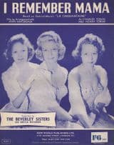 I Remember Mama The Beverley Sisters 1950s Sheet Music