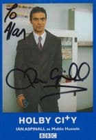 Ian Aspinall Mubbs Hussein Holby City BBC Rare Hand Signed Photo Cast Card