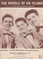 In The Middle Of An Island The King Brothers 1950s Sheet Music