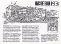 Inside Blue Peter Train LNER Class 60532 Postcard