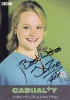 Janine Mellor as Kelsey Philips BBC Casualty Hand Signed Cast Card Photo