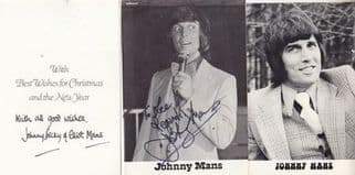 Johnny Mans Opportunity Knocks Norman Wisdom Carnaby Street Hand Signed Photo s
