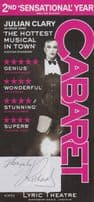 Julian Clary Cabaret Musical Hand Signed Theatre Flyer
