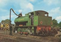 Kent & East Sussex Railway 0-6-0T Loco 24 Rolvenden Shed Postcard