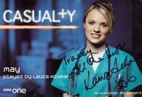 Laura Aikman as May in Casualty Hand Signed Cast Card Photo