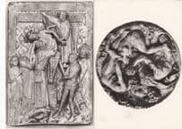 Les Bacchanales The Deposition 2x V&A French Plaster Postcard s