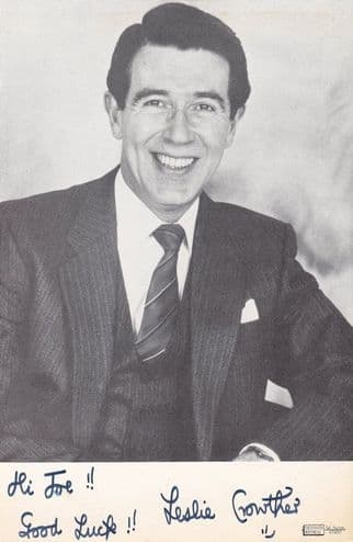 Leslie Crowther Vintage Hand Signed Photo