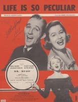 Life Is So Peculiar Bing Crosby 1940s Sheet Music