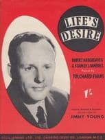 Life's Desire Jimmy Young 1940s Sheet Music