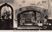 Lincolnshire Bar at Royal Hotel Grantham Hotel Fireplace Real Photo Postcard