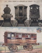 Liverpool Experience Manchester Antique Train First Class Compartment Postcard