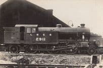 LNER 2911 Engine Train Vintage Railway Real Photo Postcard