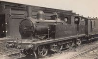 LNER 7240 Engine Train Vintage Railway Real Photo Postcard