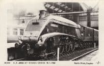 LNER A4 4-6-2 60026 at Kings Cross Station Train Postcard