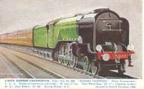 LNER Express Locomotive Edward Thompson Train Postcard