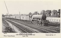 LNER Pacific Flying Fox Train 4475 at Stevenage Herts Photo Postcard