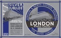 LNER Railway London to Newcastle Kings Cross Poster Postcard