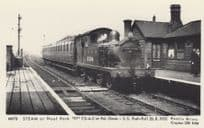 LNER Steam Train at Noel Park Wood Green Station Railway Postcard