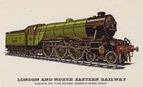 London & North Eastern Railway Class 4472 Flying Scotsman A1 Train Postcard
