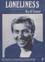 Loneliness Des O Connor 1960s Sheet Music