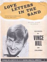 Love Letters In The Sand Vince Hill 1960s Sheet Music