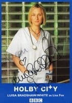 Luisa Bradshaw White as Lisa Fox Holby City BBC Rare Hand Signed Photo Cast Card