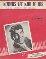Memories Are Made Of This Guy Mitchell 1940s Sheet Music