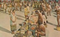 Mexico Mexican Market Place At Tlatelolco 1960s Postcard