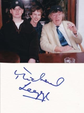 Michael Legge Have I Got News For You Hand Signed Card & Fans Photo
