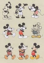 Mickey Mouse 9 Vintage Character Creation Painting Postcard