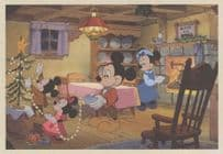 Mickey Mouse Christmas Carol Movie Poster Advertising Postcard