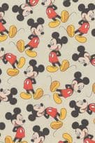 Mickey Mouse Laughing Artist Sketch Action Sheet Postcard