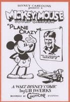 Mickey Mouse Plane Crazy Cartoon 1929 Walt Disney Poster Postcard