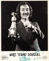 Mike Stand Douglas Hand Signed Giant Publicity Photo