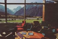 Mount Cook from Hermitage Lounge New Zealand Postcard