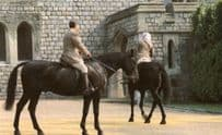 Nancy Of President Reagan Rides With Prince Phillip Windsor Postcard