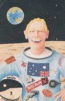 NASA Emu Has Landed In Outer Space Australian 1970s Postcard