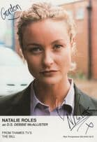 Natalie Roles The Bill ITV Show Hand Signed Cast Card Photo