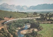 New Blue Train in Hex River Valley Cape South Africa Postcard