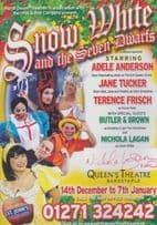 Nichola Lagan Snow White Hand Signed Theatre Flyer
